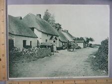 Rare Antique Original VTG Typical Village Street Ireland Photogravure Art Print