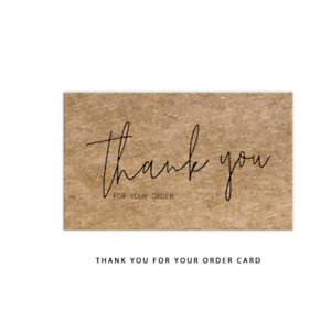 Kraft Paper Thank You Cards Natural Brown Thank You Note For Business Store New