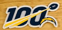 """2019 100th ANNIVERSARY 100 SEASONS LOS ANGELES CHARGERS NFL PATCH 5"""" IRON ON"""