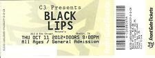 OCTOBER 11 2012 BLACK LIPS AUSTIN TEXAS ANTONE'S UNUSED TICKET STUB
