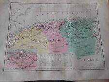 Carte Map couleur Algérie 1877