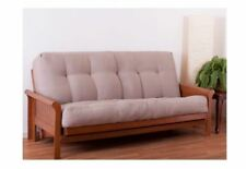 "Blazing Needles Futon Mattress Full Size 10"" inch Brown Sofa Bed Dorm Furniture"