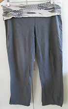 Ladies Rivers Size 12 Casual Pants Elastic Waist Slip On Exercise Cotton Blend