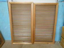 Vintage Japanese Shoji Sliding Door Window Panels SLATTED 2 Sections #53