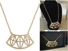"""JewelMint Cut It Out Necklace Statement Gold Chain Geometric 18-20"""" New in Box"""