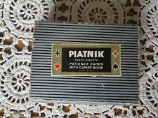 Vintage Ferd Piatnik& Sons 2 pack playing cards plasti-smooth Butterfly/Flowers