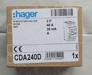 HAGER CDA240D FI-Schutzschalter 2P 40A 30mA