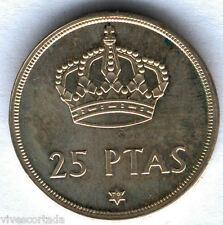 Juan Carlos 1º. 25 Pesetas. 1975*79 EMISION ESPECIAL EN PLATA