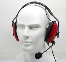 Overhead Noise Cancelling Headset for KENWOOD PUXING BAOFENG UV5R QUANSHENG RED