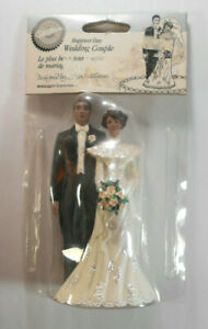 "Wilton ""Happiest Day""  Wedding Couple Cake Topper~African American~NIP"