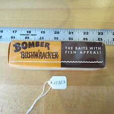 Vintage Bomber Bushwhacker fishing lure box only (lot#11323)