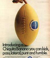 1971 Chiquita Banana Football Offer NFL Team Stickers Vintage Print Ad
