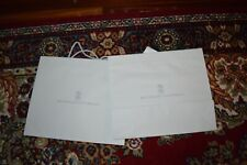 """Brunello Cucinelli Paper Gift Shopping Bag Grey Large W16.5 """"x H14"""" x D5"""" New"""