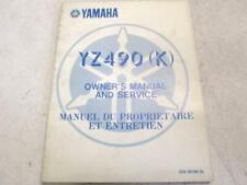 Manuel du proprietaire YAMAHA YZ 490 1983