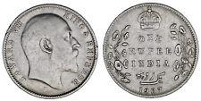 1 SILVER RUPEE CALCUTTA - 1 RUPIA PLATA CALCUTA. INDIA 1907. EDWARD VII. VF/MBC.