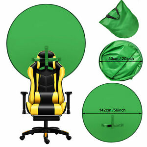4.65ft Backdrop Photography Round Background Green Screen Portable Photo Video L