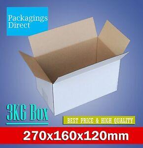 100x Mailing Box 270 x 160 x 120mm Cardboard Carton for Large prepaid Satchel