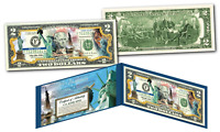 STATUE OF LIBERTY 130th HISTORICAL ANNIVERSARY OFFICIAL Genuine U.S. $2 Bill