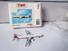 MD-80 Airplane Miniature Model Plastic Snap Fit 1:200 Part# AMD-0800 74-95 TWA