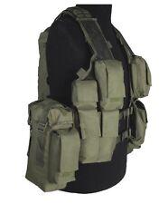 Einsatzweste Tactical 12 Taschen oliv