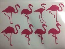 Flamingos x 15 Vinyl Decal stickers Summer Wine Glass mug Crafts
