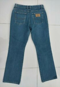RM Williams Womens Blue Denim Jeans Size 13 TJ421 Australian Made Slight Bootcut