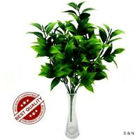 Artificial Green Leaves Greenery Bushes Fake Plant Bunch For Wedding Home Decor