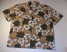 Island Style Design Hawaiin Floral Hawaiian Camp Shirt XL