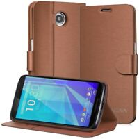 For Google Nexus 6 Case Magnetic Flip Leather Card Wallet Cover with Kickstand