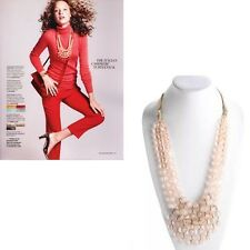 J.CREW Cloud statement necklace 11147 $150 Pink bauble ribbon