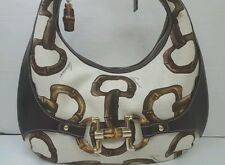 Authentic Gucci Canvas & Leather Amalfi Hobo Horsebit 152468 Made in Italy RARE!