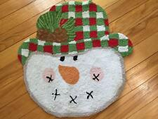 Rustic Country Snowman Accent Rug Frosty Snowman Bathroom Rug Area Rug