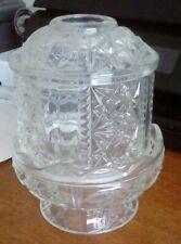 Vintage Home Interiors Clear Glass Princess Lite, Fairy Lamp, Tea Light