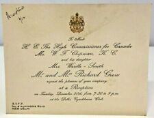 More details for invitation meet warwick fielding chipman high commissioner canada new delhi