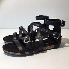 Madden Girl Women's Efort Gladiator Sandal (782) Black 6.5M