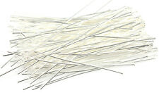 100 Silver Plated Head Pins 21 Gauge 2.5 Inch