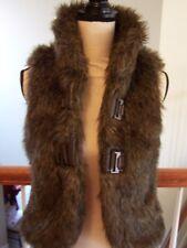Jack Women's S Faux Fur Vest Brown Lined NWOT