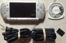 Sony PSP 2000 2001 Ice Silver System 1GB memory, Game, Charger bundle Tested