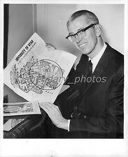 1964 Dr. James Fletcher Shows Map of University Original News Service Photo