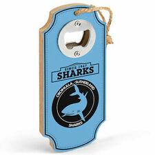 Official NRL Cronulla Sharks Heritage Logo Plaque Bottle Opener