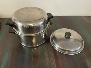 Lifetime 5 Qt Stock Pot W Dome and Short Lid Stainless Steel - made in USA