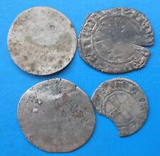 LOT de 4 monnaies royales féodales argent / billon différentes PETIT PRIX (B1)