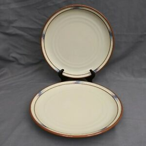 Noritake Stoneware Raindance #8675 Dinner Plates Southwest Santa Fe Set of 2