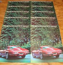 Original 1966 Chevrolet Corvette Sting Ray Sales Brochure Lot of 10 66 Chevy