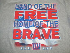 NEW YORK  GIANTS Land of the FREE Home of the BRAVE (LG) T-Shirt FAN TILL I DIE