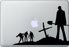 Apple MacBook Air Pro + Walking Dead + Pegatina Sticker decal skin + Zombie