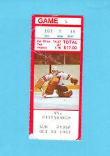 Ken Daneyko 1st Career NHL Goal Ticket Stub 1983 New Jersey Devils