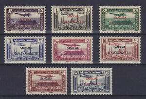 ALEXANDRETTE 1938, AIR MAIL, YVERT PA 1-8, COMPLETE SET, MLH