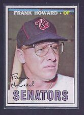 1967 Topps #255 Frank Howard Washington Senators NM-MT to NM-MT Plus (8.5 to 9)