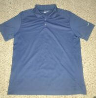 Men's Nike Golf Dri-Fit Polo Logo Shirt Navy Blue Size X Large Tour Performance
